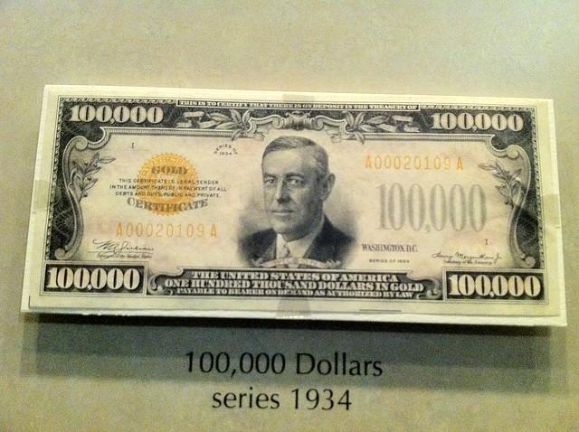 Real $100,000 B... $100000 Bill