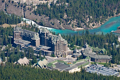 Banff Springs Hotel From Above