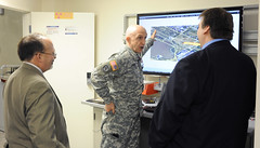 RDECOM leaders tour ECBC modeling and simulation facility