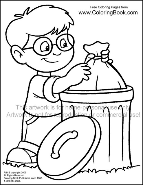 garbage coloring pages to print - photo #49