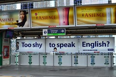 Too shy to speak English?  I think I did take this one back in January...