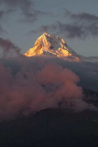 nepal sunset south annapurna himalayas himal ghorepani