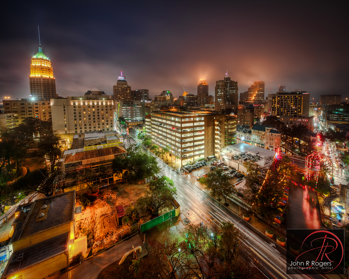 Misty San Antonio Night