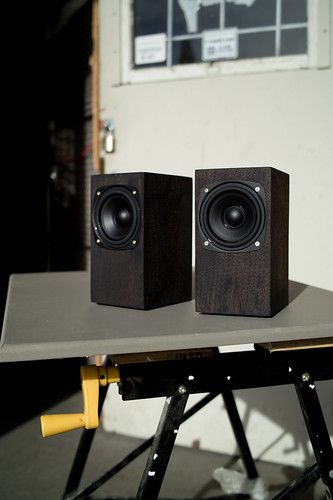 Small home-built powered speakers