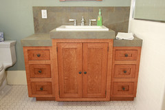 floor, countertop, room, wood stain, bathroom cabinet, plumbing fixture, hardwood, cabinetry, bathroom, flooring, sink,