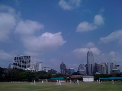 Cricket at the lovely Polo club ground near the old night bazaar