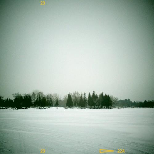 cameraphone winter snow canada cold ice square landscape innisfil vignette mobilephonecamera frozenlake lakesimcoe flickroid vignetteforandroid samsunggalaxys