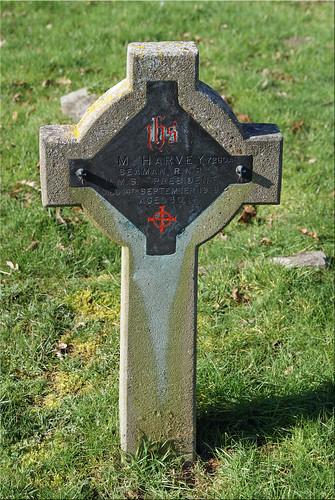 M. Harvey, War Grave, 1918, Caister-on-Sea, RNR
