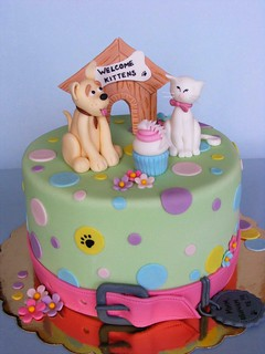 Cat and dog cake