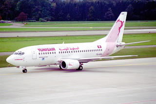 Tunisair Boeing 737-500; TS-IOH@ZRH;11.10.1997