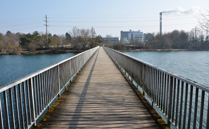 Footbridge over the River Aar by Zuchwil