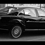 [ Curve : Wheels : Glass : Black : White ] Mercedes Benz S-Class : Hamburg, Germany