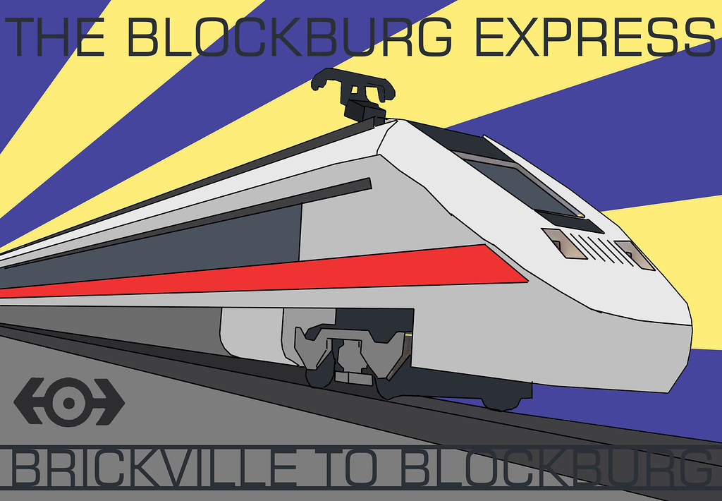 Blockburg Express Art Deco Poster