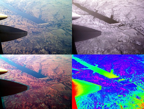 Infrared vegetation analysis from a plane