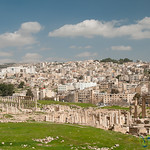 Ancient and Modern Jerash - Jordan