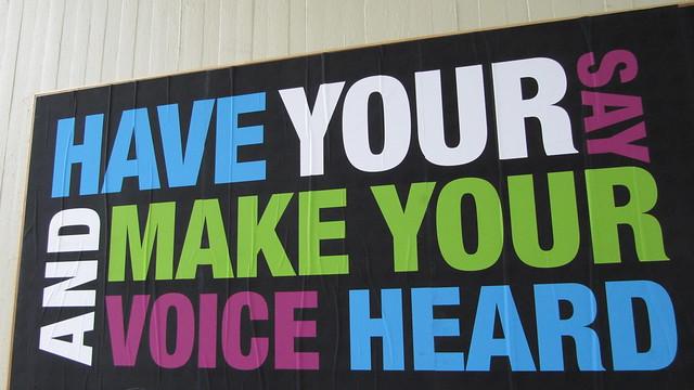 Photo:Speak up, make your voice heard By:HowardLake