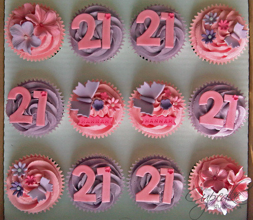 Cupcake Decorating Ideas For 21st Birthday : 21st Birthday cupcakes Flickr - Photo Sharing!