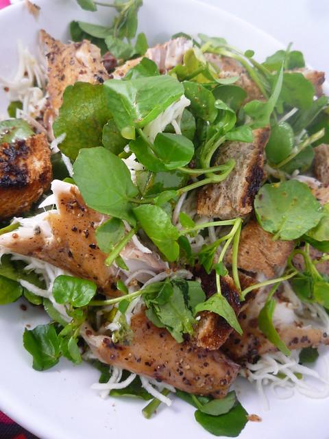 Watercress , Smoked Mackerel and Celeriac Salad
