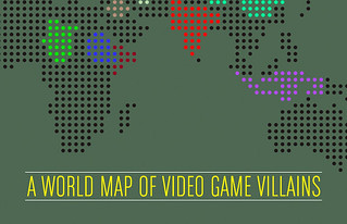 A World Map of Video Game Villains [infographic]