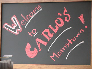 Welcome Sign at Carlo's Bakery Morristown