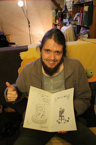 Bert is happy with his autograph