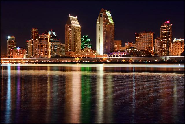 Light Streak across San Diego Bay