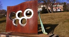 Drapeau olympique (75ème anniversaire)