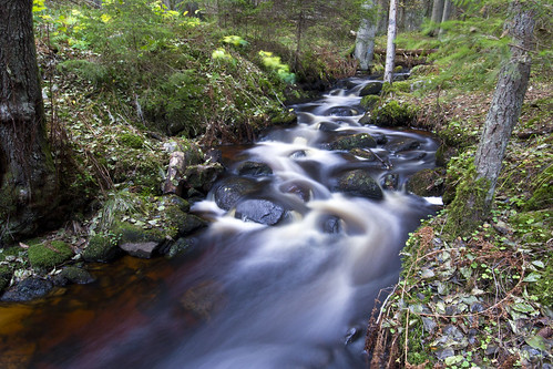 water creek long exposure sweden ravine sverige östergötland getå canoneos7d