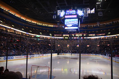 Between periods at the Scottrade Center