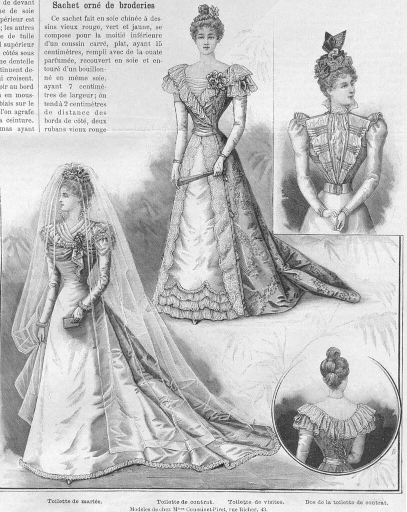 Robe de mariée dans La Mode Illustrée