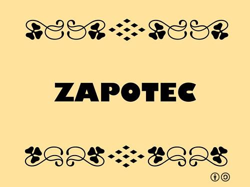 Buzzword Bingo: Zapotec
