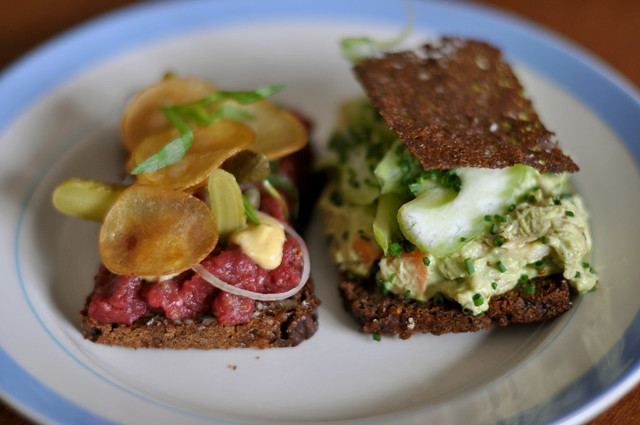 Smørrebrød by CC user cyclonebill on Flickr