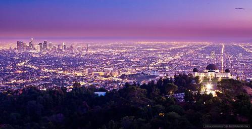 california ca city longexposure sunset urban skyline night canon landscape photography la losangeles downtown joshua explore observatory 5d griffith gunther mkii