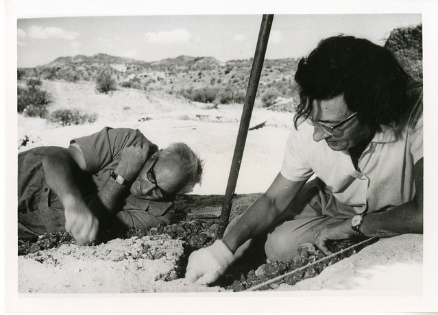 Mary Douglas Nicol Leakey (1913-1996) and her husband Louis Seymour Bazett Leakey (1903-1972)