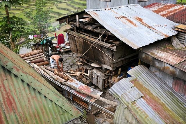 Vivienda en las terrazas de arroz de Batad, Filipinas