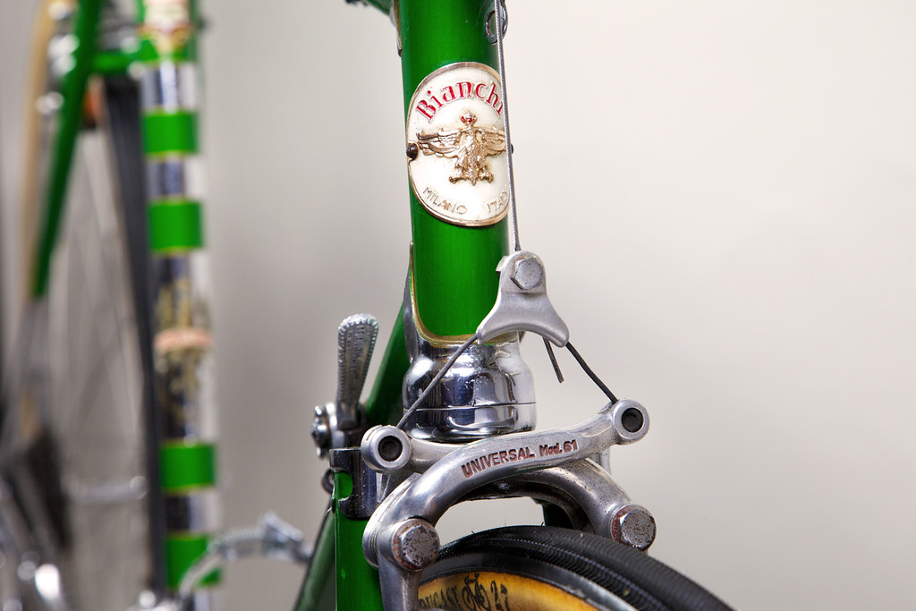1964 Bianchi Specialissima Right Head Badge Close