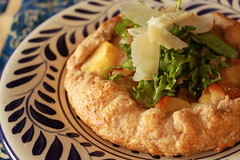 Parsnip Galette  with Late Winter Greens and Shaved Parmesan