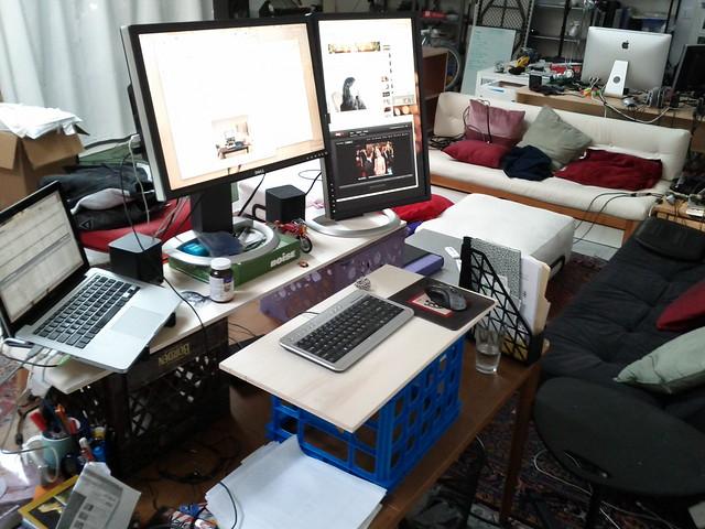 Make-shift standing desk