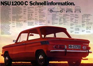 NSU 1200 prospekt 1971