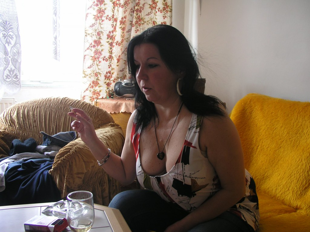 mature woman smoking