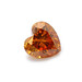 Fancy deep yellowish orange, heart shape diamond by Leibish & Co