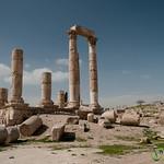 Temple of Hercules at the Citadel in Amman, Jordan