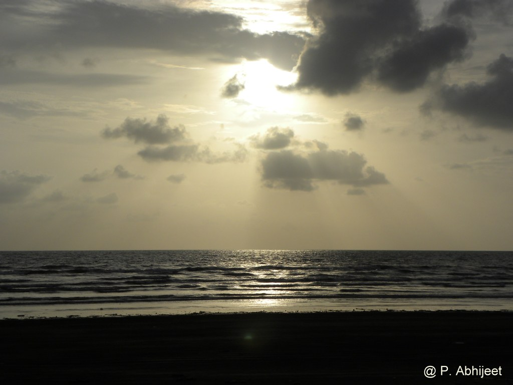 Sunset at Varsoli Beach, Alibag