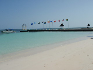 Pier with Flags