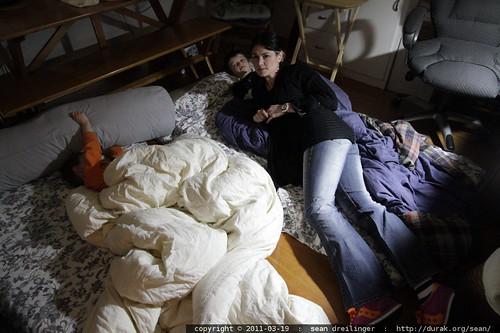 rachel tucking her boys into bed