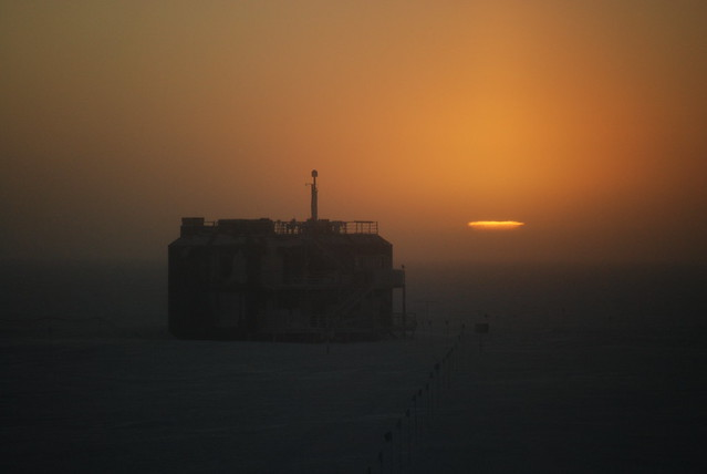 Sunset-South Pole March 22-23, 2011