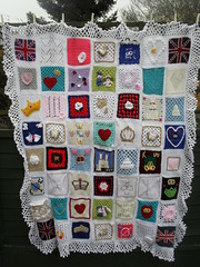 Ta - Dah! Introducing 'The Royal Wedding Blanket' thank you to everyone that has contributed Squares, very much appreciated!