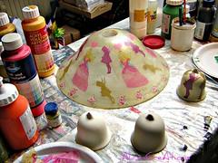 Prinzessinnen-Lampe - noch in Arbeit