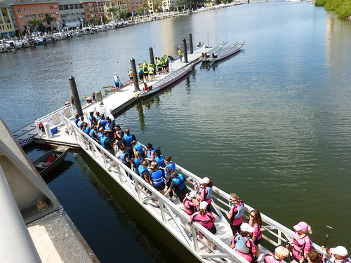 Lining up for Dragon Boat racing!