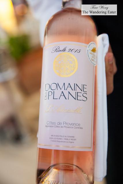Rosé wine for dinner - Domaine Planes Côtes de Provence